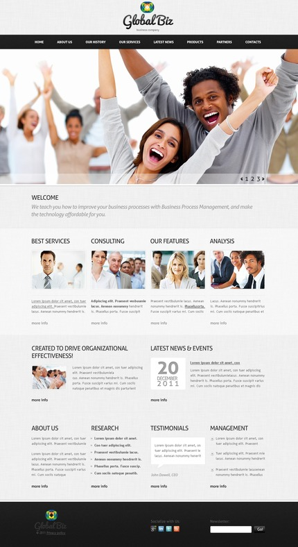 ADOBE Photoshop Template 57191 Home Page Screenshot