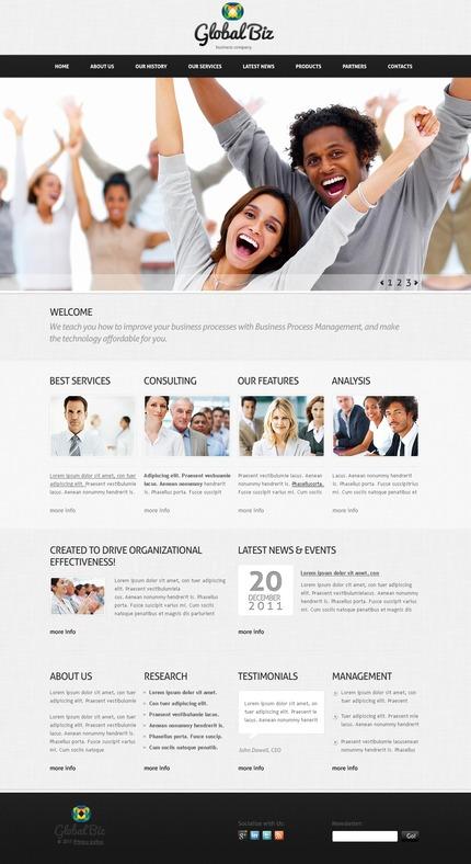 PSD макет сайта №57191