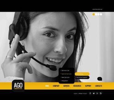 Купить  пофессиональные PSD шаблоны. Купить шаблон #57195 и создать сайт.