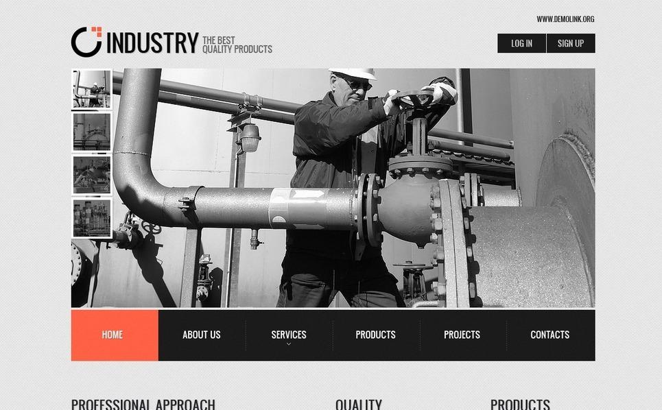 PSD шаблон на тему промисловість New Screenshots BIG
