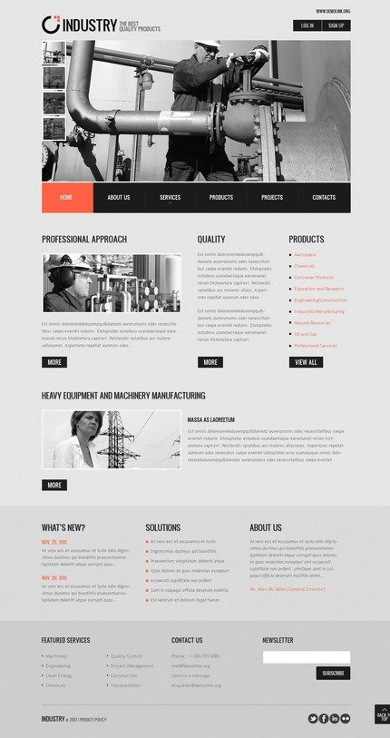 ADOBE Photoshop Template 57199 Home Page Screenshot