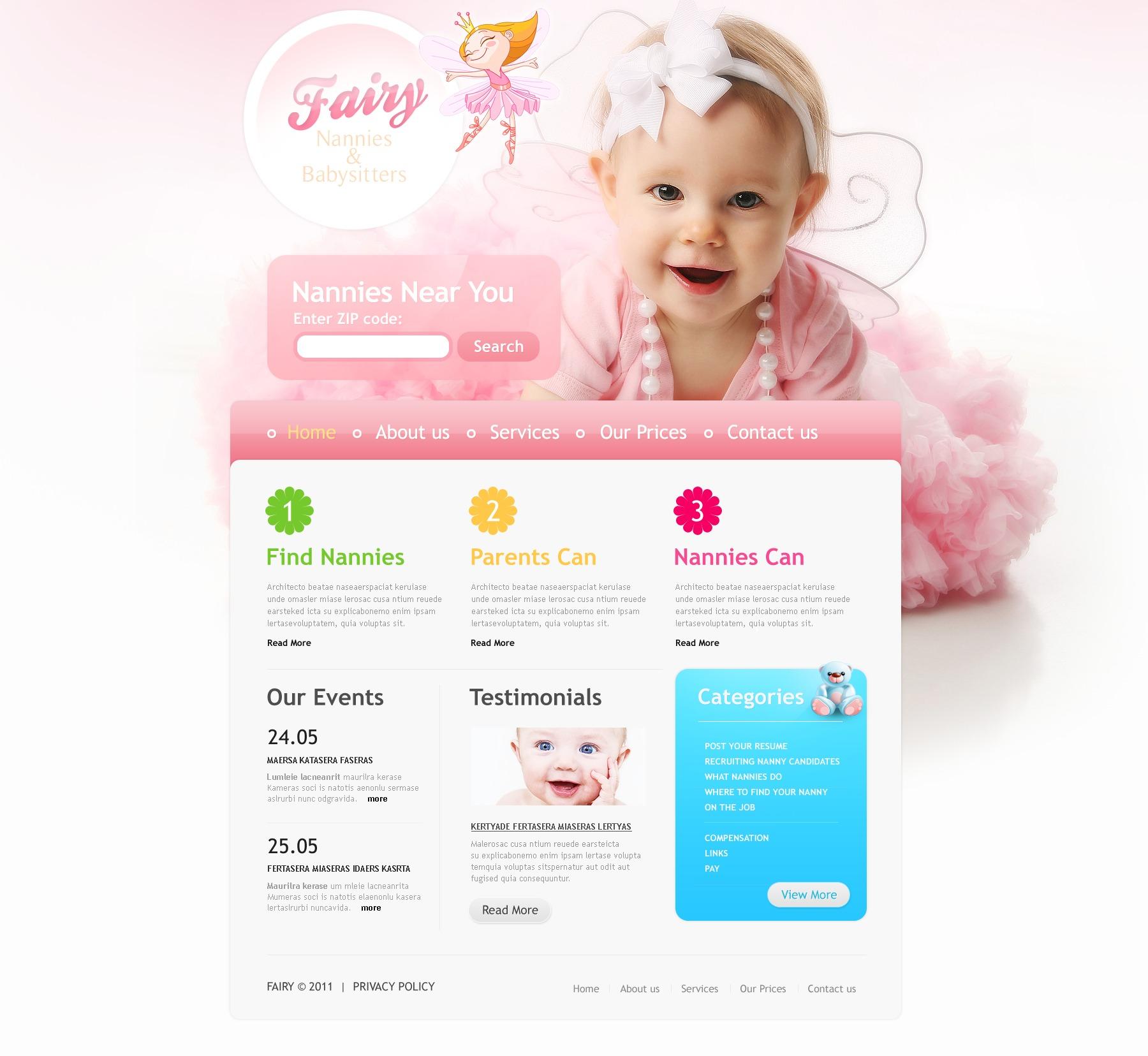 Babysitter PSD Template