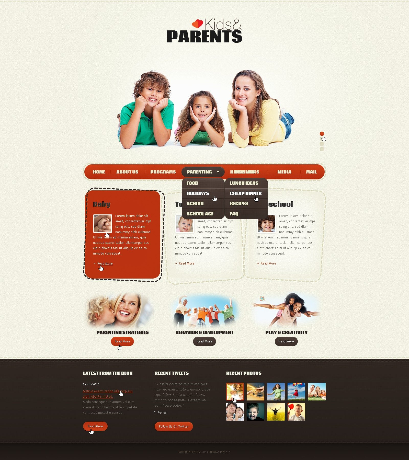 Family PSD Template