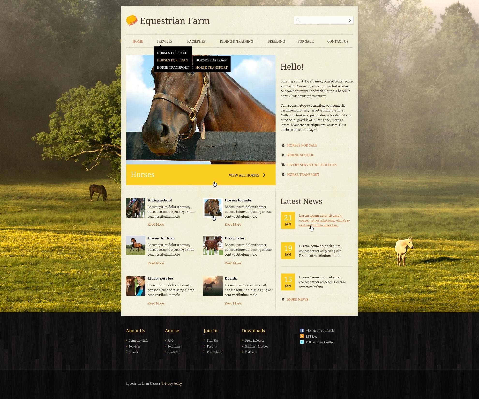 Horse PSD Template