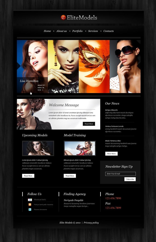 Model Agency PSD Template New Screenshots BIG