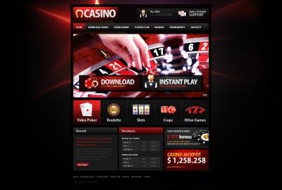 Online Casino PSD Sablon