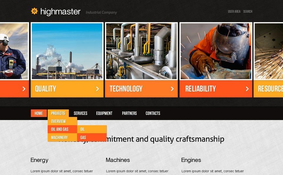 Plantilla PSD #57187 para Sitio de Industria New Screenshots BIG