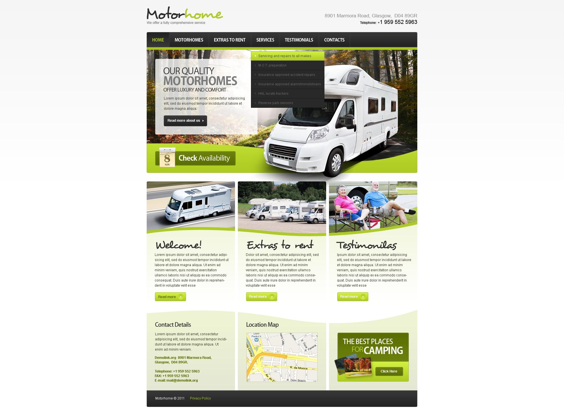 PSD-mall för camping #57128 - skärmbild