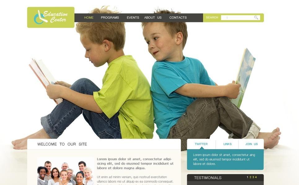 PSD шаблон №57129 на тему сайт образования New Screenshots BIG