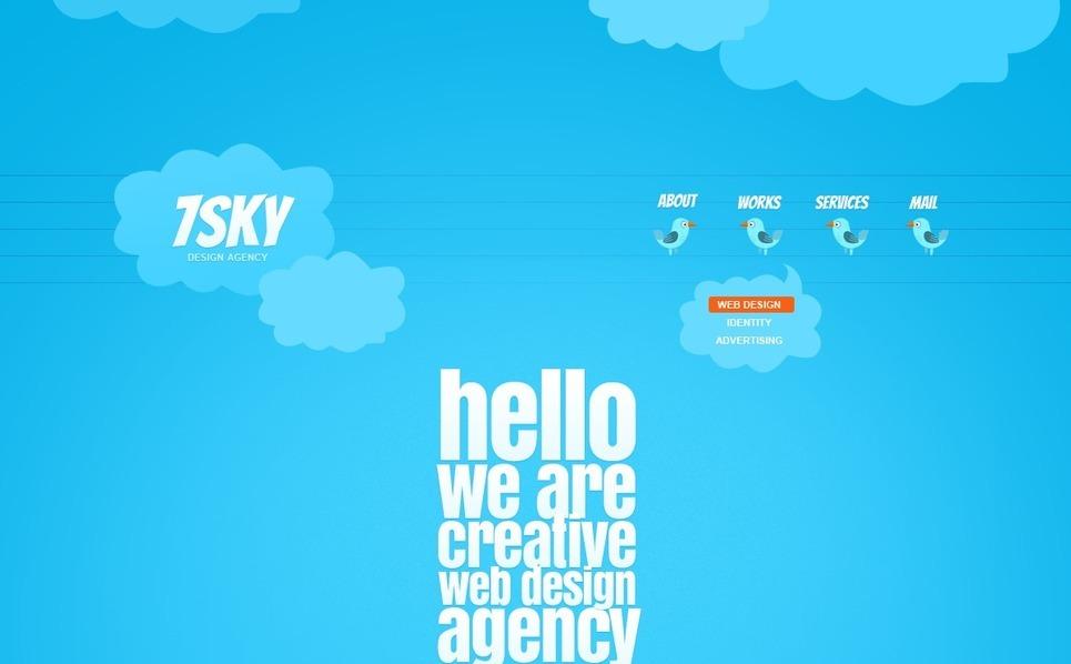 PSD шаблон №57182 на тему дизайн студия New Screenshots BIG