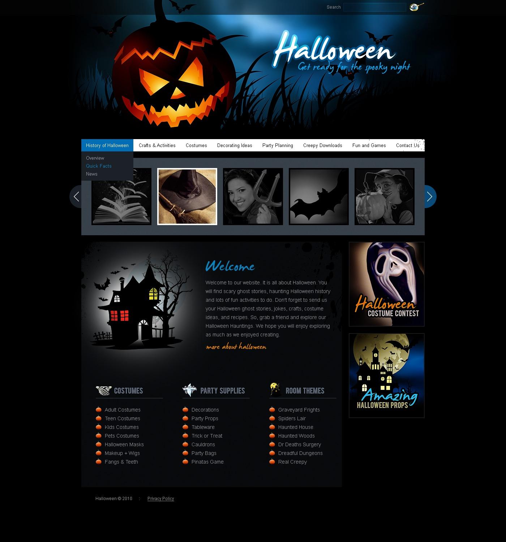 PSD šablona Halloween #57100