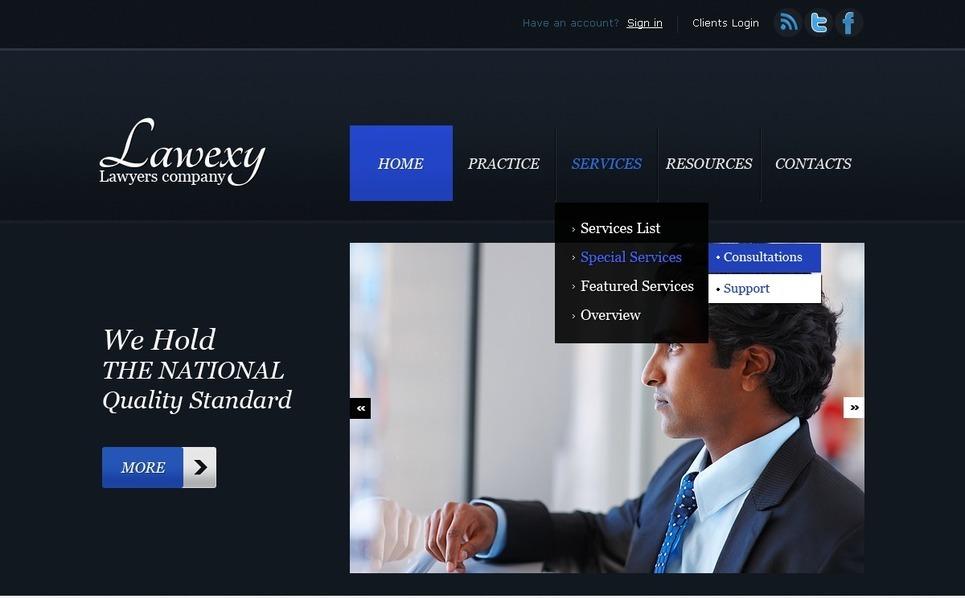 Szablon PSD #57172 na temat: prawnik New Screenshots BIG
