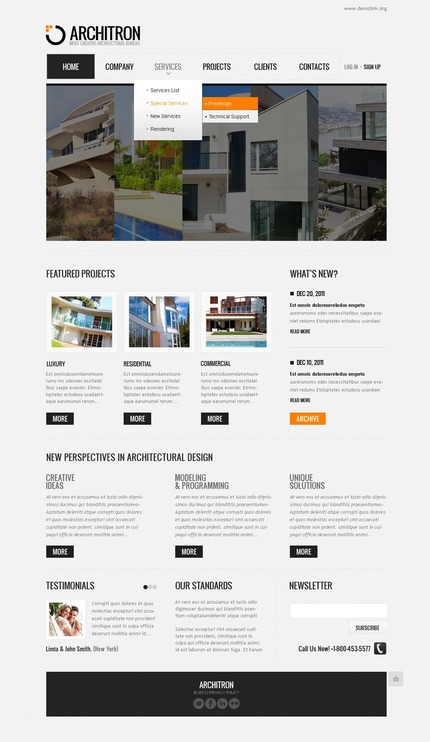 ADOBE Photoshop Template 57200 Home Page Screenshot