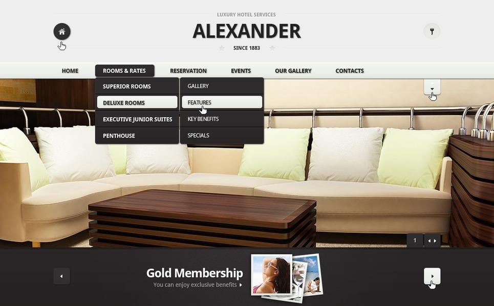 PSD šablona Hotely New Screenshots BIG