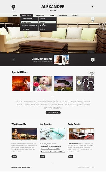 ADOBE Photoshop Template 57202 Home Page Screenshot