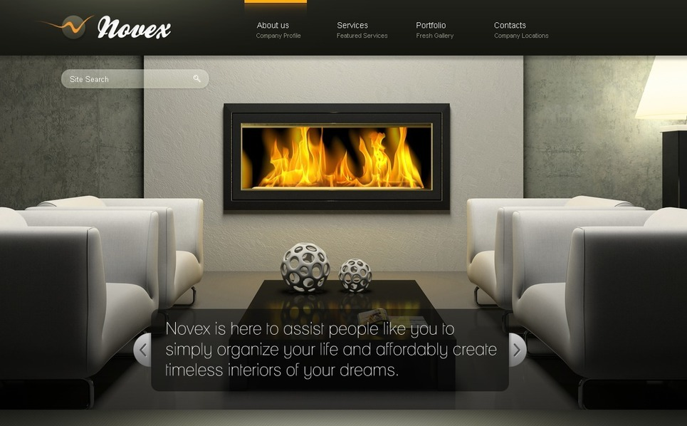 PSD Template over Interieur-design  New Screenshots BIG