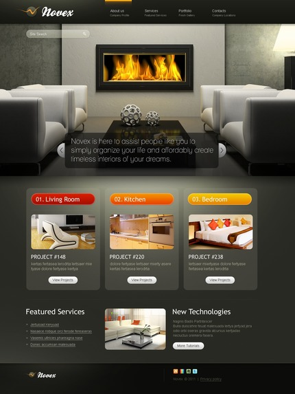 ADOBE Photoshop Template 57205 Home Page Screenshot