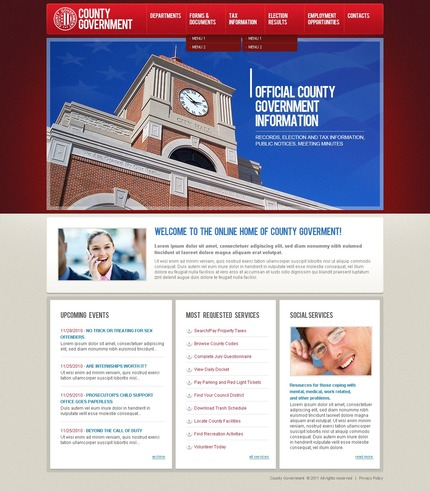 ADOBE Photoshop Template 57206 Home Page Screenshot