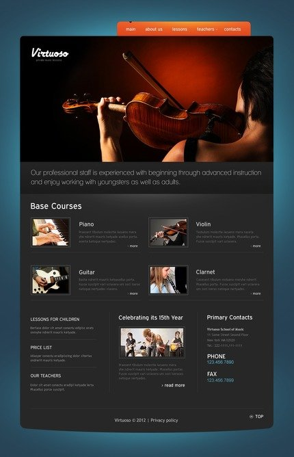 ADOBE Photoshop Template 57207 Home Page Screenshot