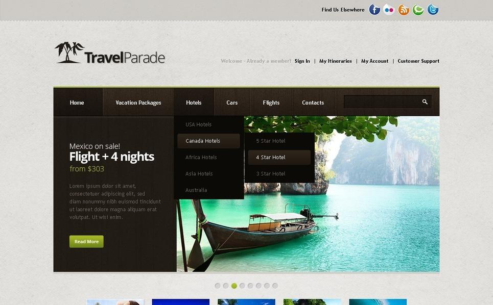 Seyahat Rehberi  Psd Şablon New Screenshots BIG