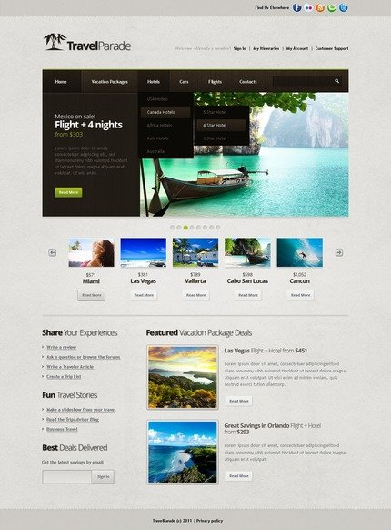 ADOBE Photoshop Template 57208 Home Page Screenshot