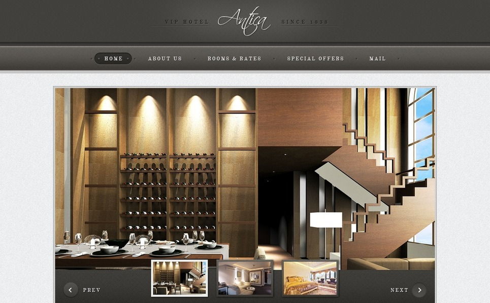 Tema PSD  #57213 per Un Sito di Hotel New Screenshots BIG