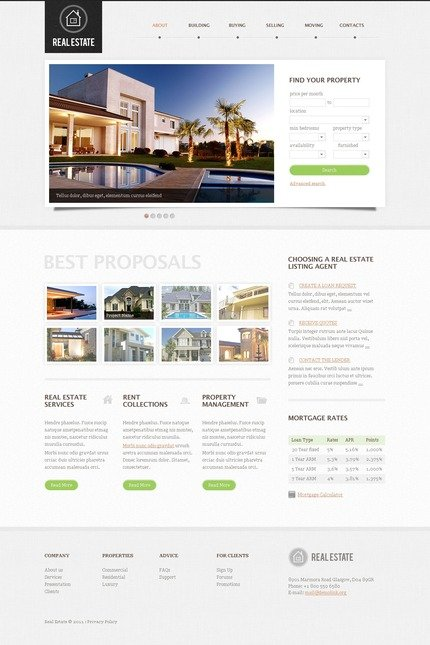 ADOBE Photoshop Template 57214 Home Page Screenshot