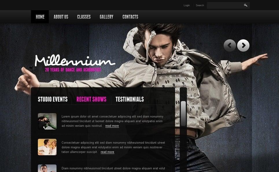 PSD шаблон на тему школа танців New Screenshots BIG