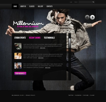 ADOBE Photoshop Template 57217 Home Page Screenshot