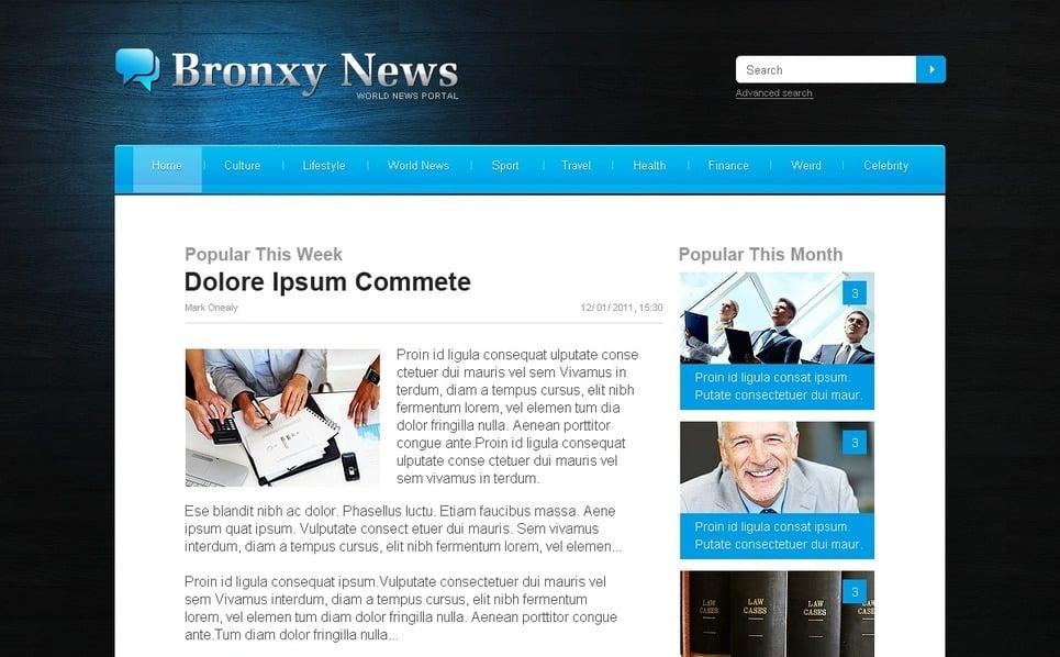 Szablon PSD #57218 na temat: portal informacyjny New Screenshots BIG