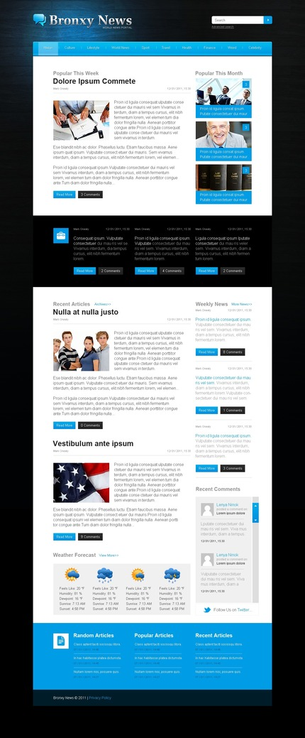 ADOBE Photoshop Template 57218 Home Page Screenshot