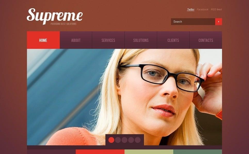 Plantilla PSD #57219 para Sitio de Negocio y Servicios New Screenshots BIG