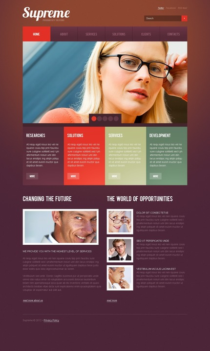 ADOBE Photoshop Template 57219 Home Page Screenshot