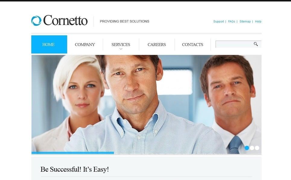PSD шаблон №57222 на тему Бизнес и услуги New Screenshots BIG