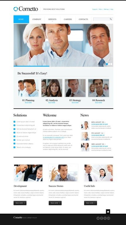 ADOBE Photoshop Template 57222 Home Page Screenshot