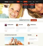 Charity PSD  Template 57223