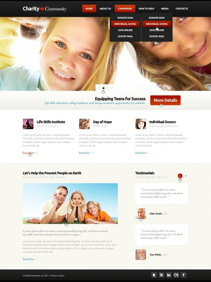 ADOBE Photoshop Template 57223 Home Page Screenshot