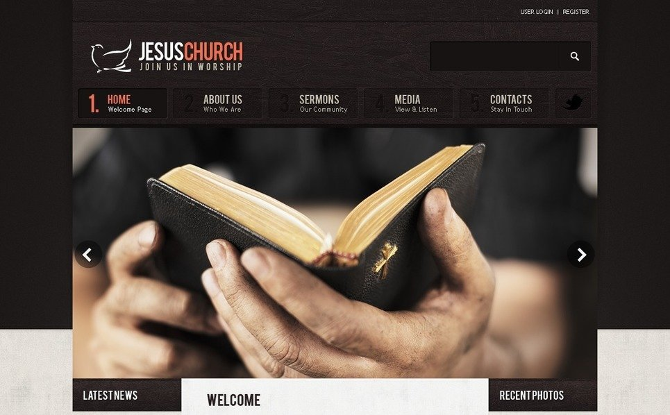 Template Photoshop  para Sites de Religião №57224 New Screenshots BIG