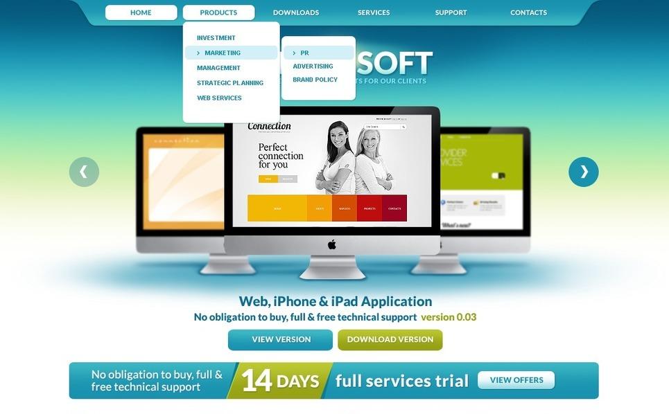 PSD Vorlage für Software  New Screenshots BIG