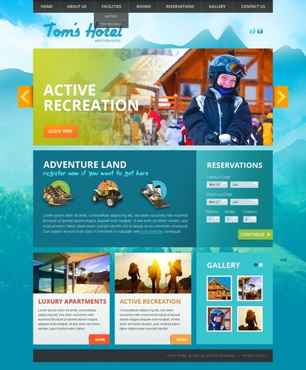ADOBE Photoshop Template 57230 Home Page Screenshot