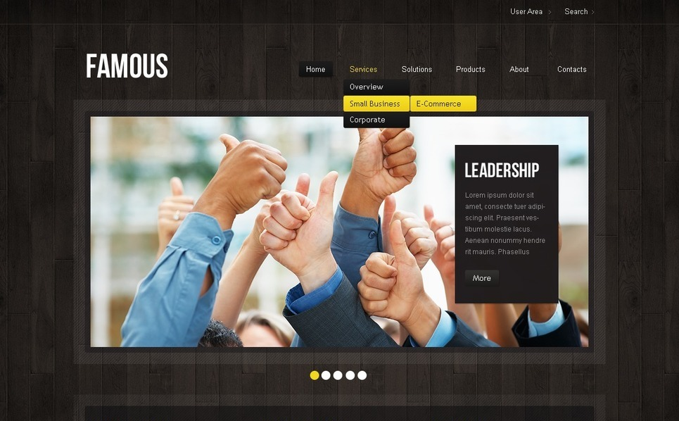 Szablon PSD #57232 na temat: usługi doradcze New Screenshots BIG