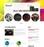 Web design PSD  Template 57233
