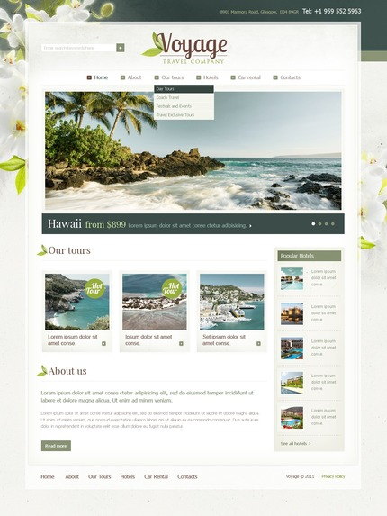 ADOBE Photoshop Template 57234 Home Page Screenshot