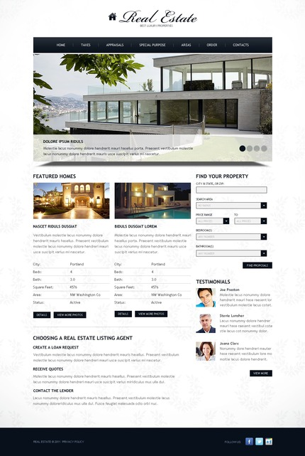 ADOBE Photoshop Template 57235 Home Page Screenshot