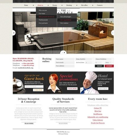 ADOBE Photoshop Template 57238 Home Page Screenshot