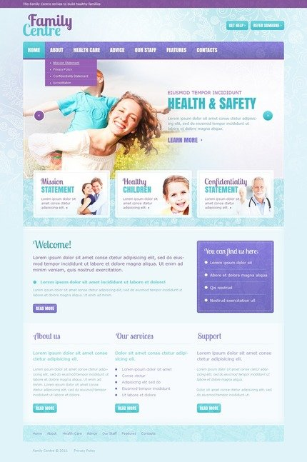 ADOBE Photoshop Template 57239 Home Page Screenshot