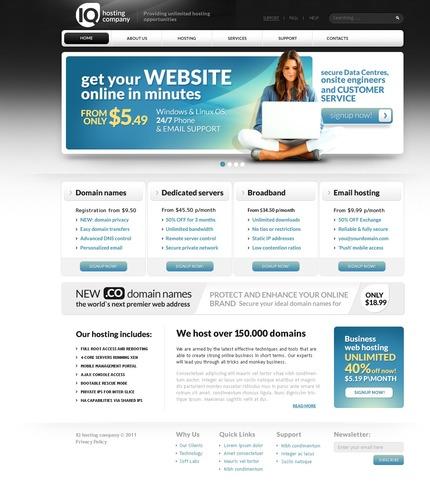 PSD макет сайта №57240