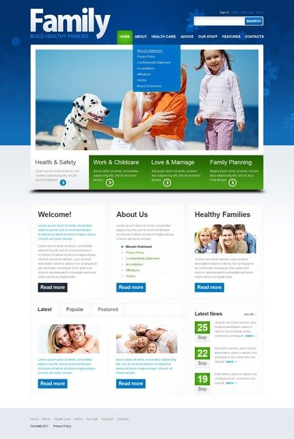 ADOBE Photoshop Template 57241 Home Page Screenshot