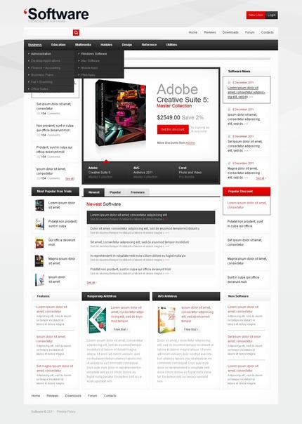 ADOBE Photoshop Template 57243 Home Page Screenshot