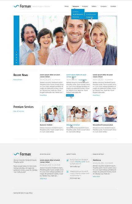 ADOBE Photoshop Template 57246 Home Page Screenshot